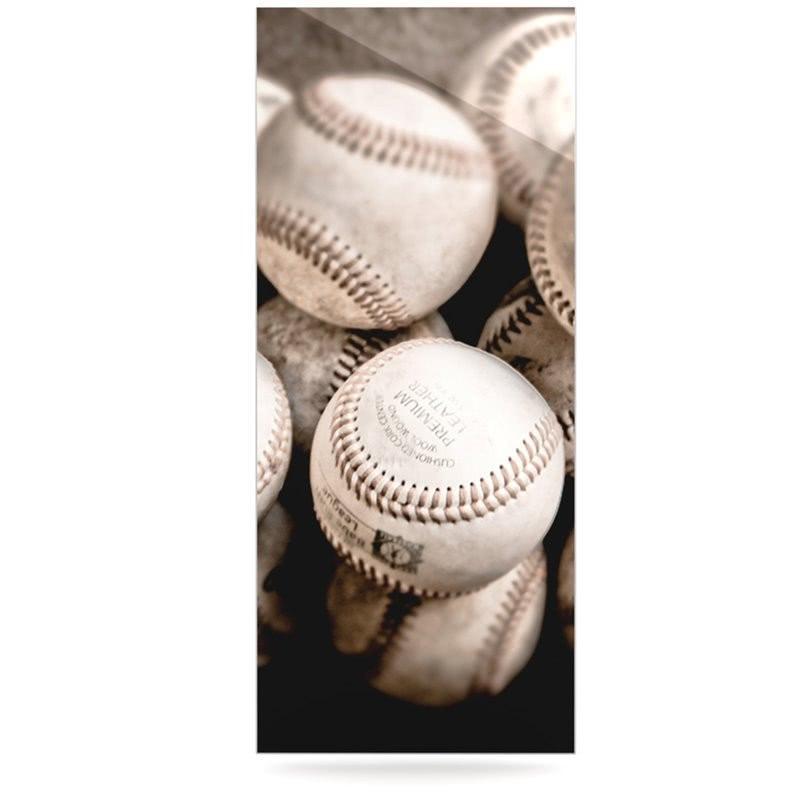 Baseball Photo On Metal