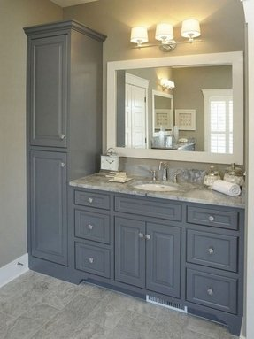 50 Bathroom Vanity And Linen Cabinet Combo You Ll Love In 2020 Visual Hunt