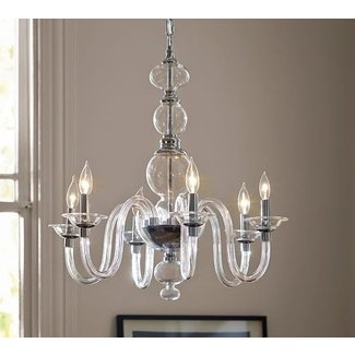 Blown Glass Chandelier | Pottery Barn
