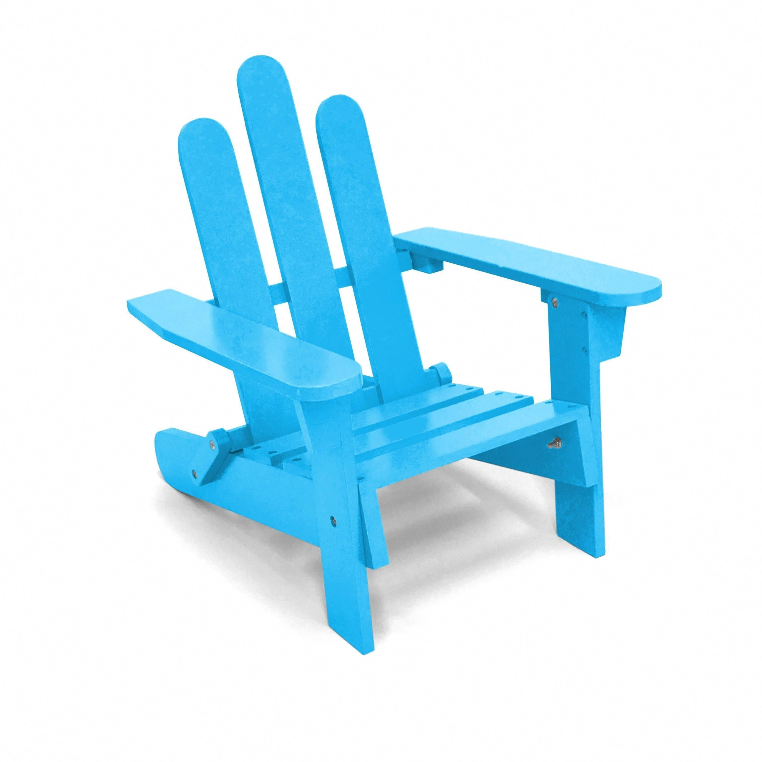 Blue Kids Adirondack Chair