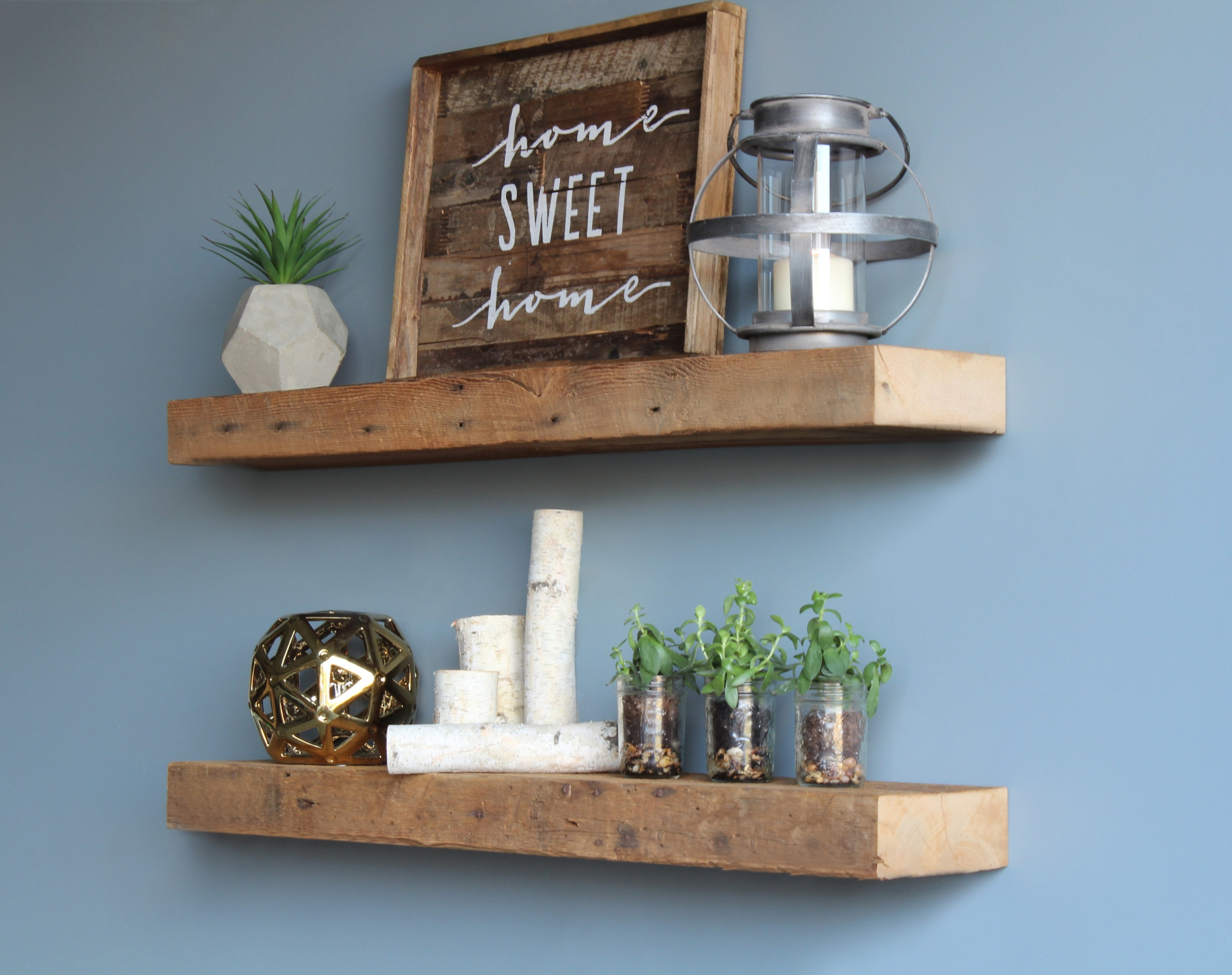 Reclaimed Wood Floating Shelves You'll Love in 2020 - VisualHunt