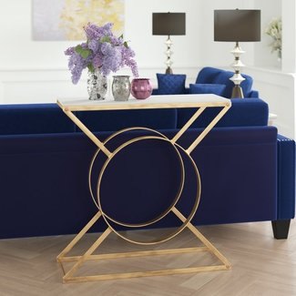Cadbury Marble Top Console Table