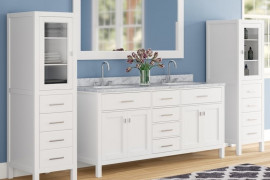 Bathroom Vanity and Linen Cabinet Combo