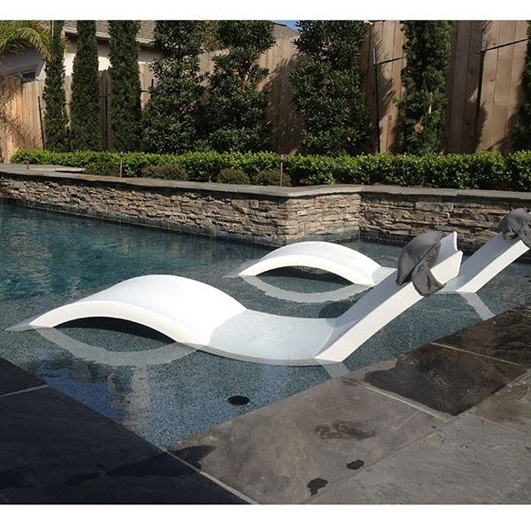 In Water Pool Lounge Chairs You Ll Love, Pool Chaise Lounge Chairs In Water