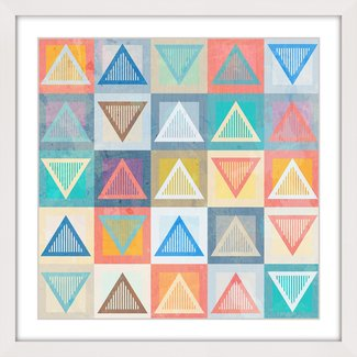 'Chalk Triangles' Framed Painting Print