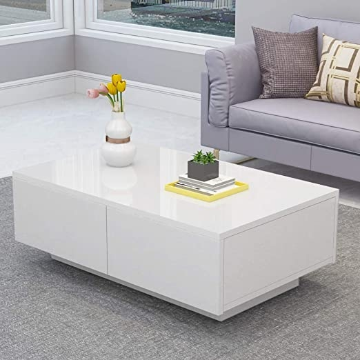 White High Gloss Coffee Table You Ll Love In 2021 Visualhunt