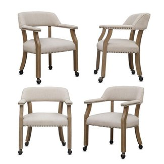 Set Of 4 Kitchen Chairs With Casters You Ll Love In 2021 Visualhunt