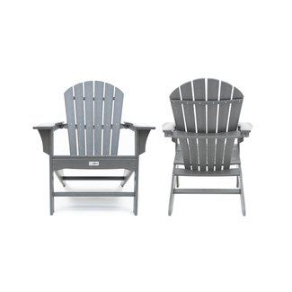 Corinne Poly Plastic Adirondack Chair (Set of 2)