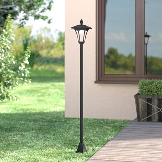 "Croley Solar Powered Vintage 1-Light LED 65"" Post Light"