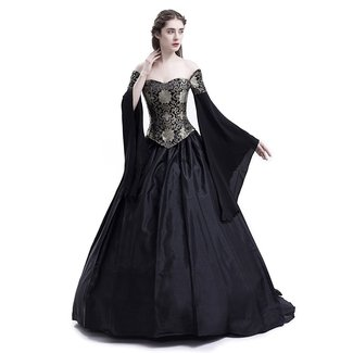 2ef161c9a5a D-RoseBlooming Black Vintage Renaissance Wedding Dress Gothic Victorian  Ball Gowns