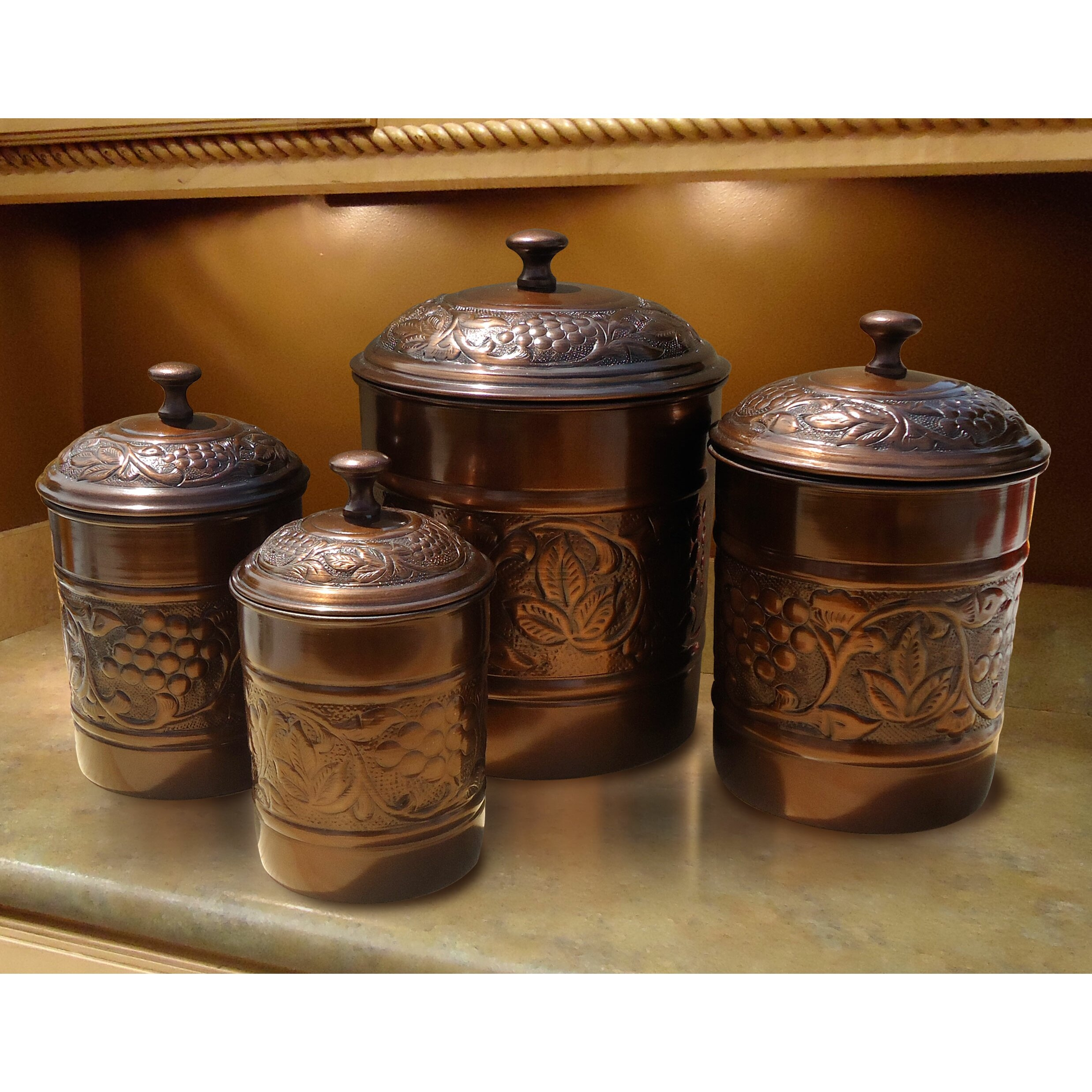 Dark Copper Canisters