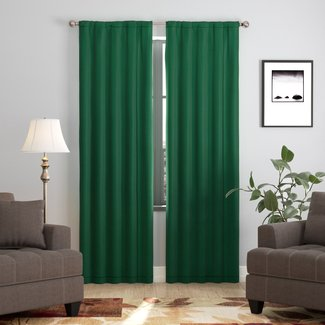 Darrah Solid Blackout Single Curtain Panel