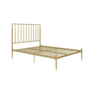 DHP Giulia Modern Metal Bed, Lavish and Chic 48.5-Inch Headboard, Under-Bed for Storage