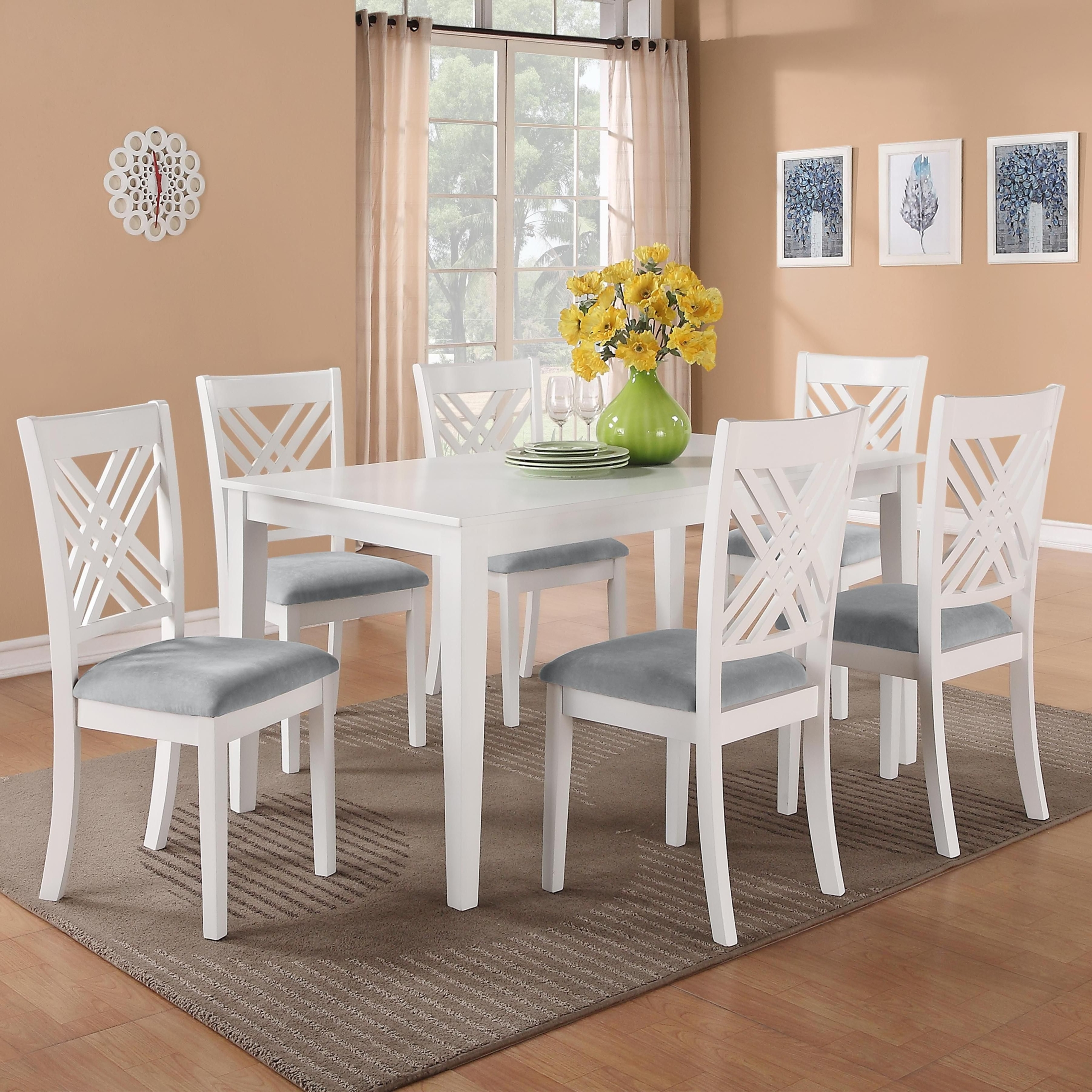 White Dining Table Set You Ll Love In, White Wood Dining Room Sets