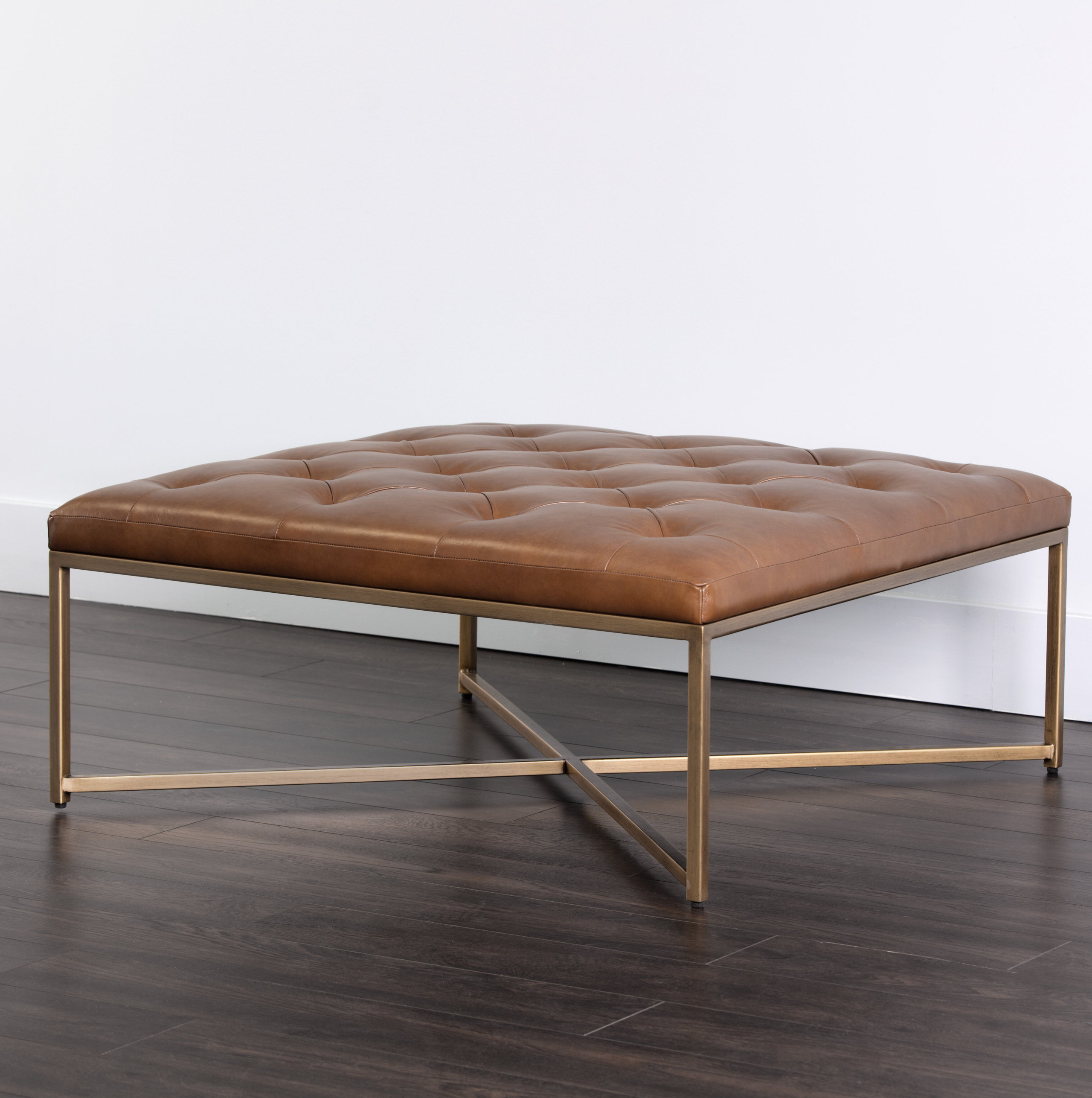 Square Leather Ottoman Coffee Table You Ll Love In 2021 Visualhunt