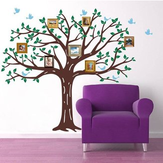Photos Wall Art Family Family Tree Wall Decal Set Trees Sticker Branches