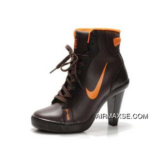 42a469237f3c7e Fashion Nike 2012 Heels Dunk High Womens Shoes Boots Brown
