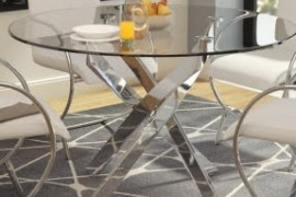 Circle Glass Table