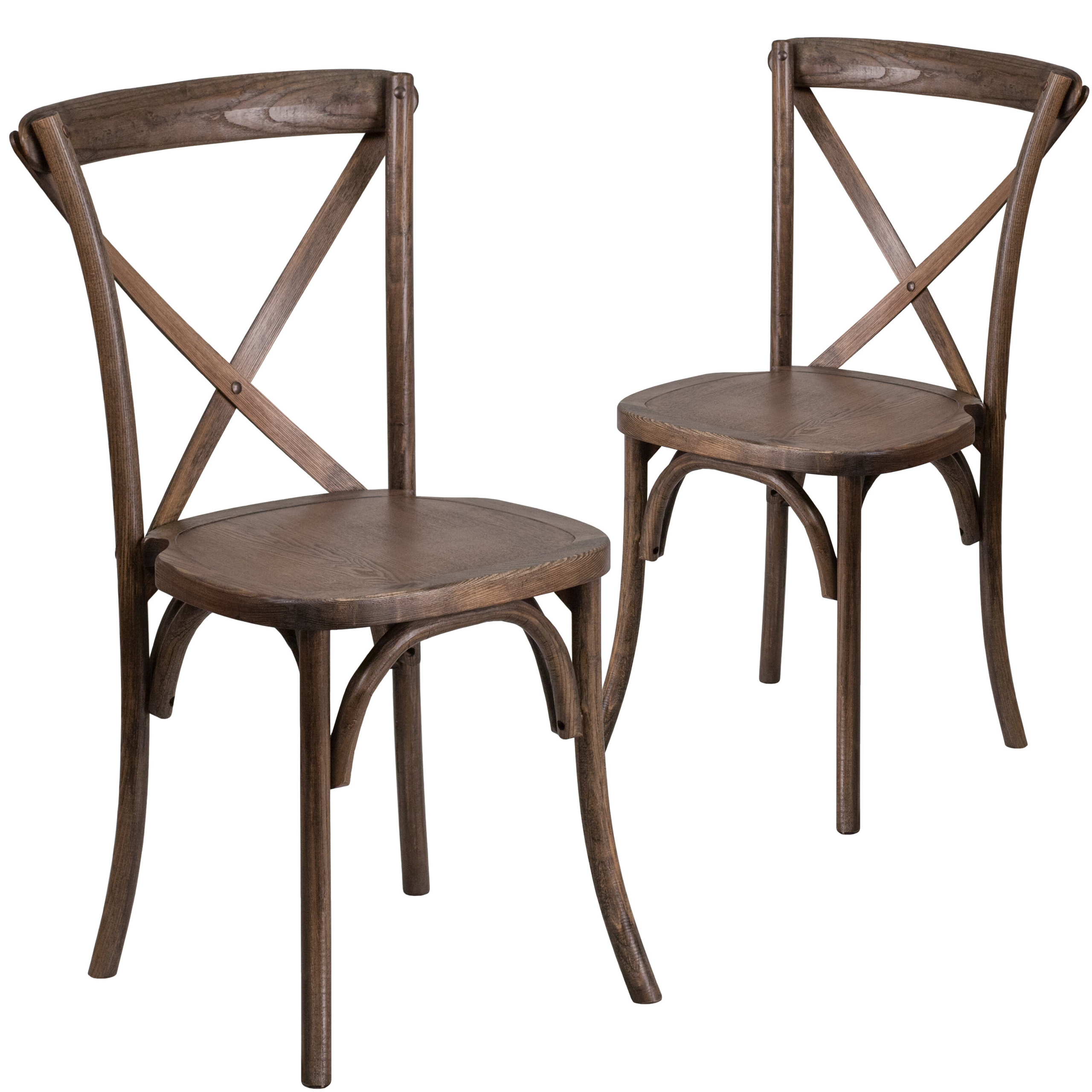 Lot of 50 Metal Frame X-Back Dining Restaurant Chairs