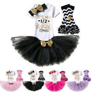 Baby Girl Its My 1st Birthday Dress Romper Tutu One Cake Smash Photoshoot Outfit