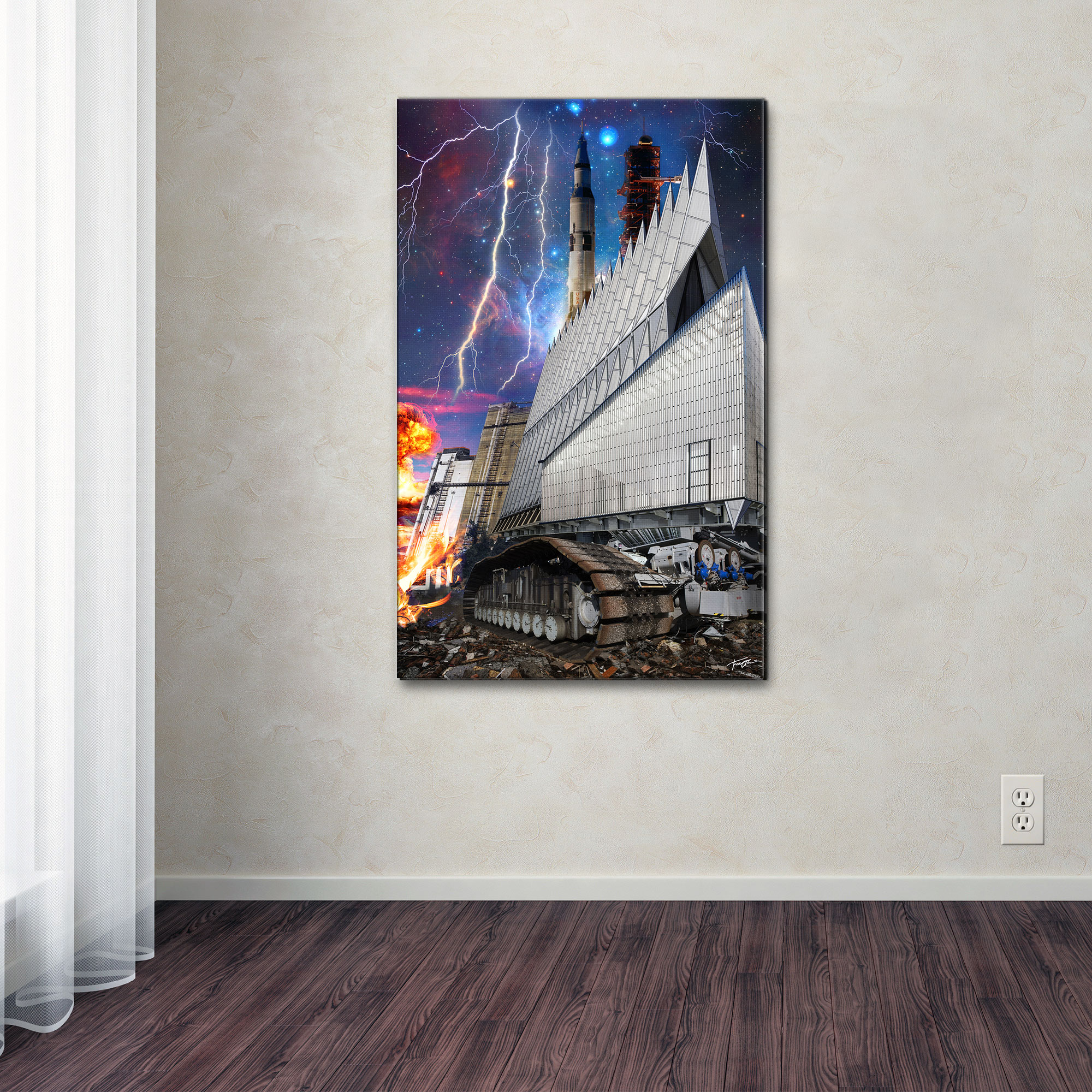 Graphic Art Print on Wrapped Canvas