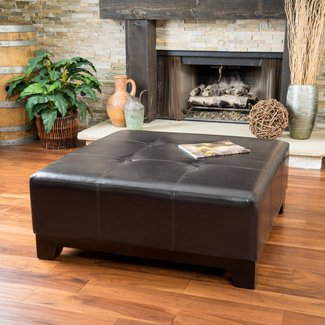 Astounding 50 Square Leather Ottoman Coffee Table Youll Love In 2020 Cjindustries Chair Design For Home Cjindustriesco