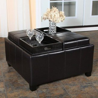 50 Square Leather Ottoman Coffee Table You Ll Love In
