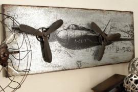 Metal Airplane Decor