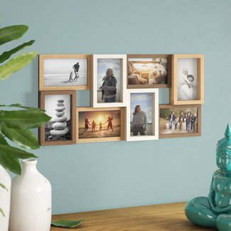 Gullickson Wood Puzzle Design Collage Picture Frame