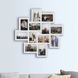 Haymond Gallery Style Wall Hanging 12 Opening Photo Sockets Picture Frame