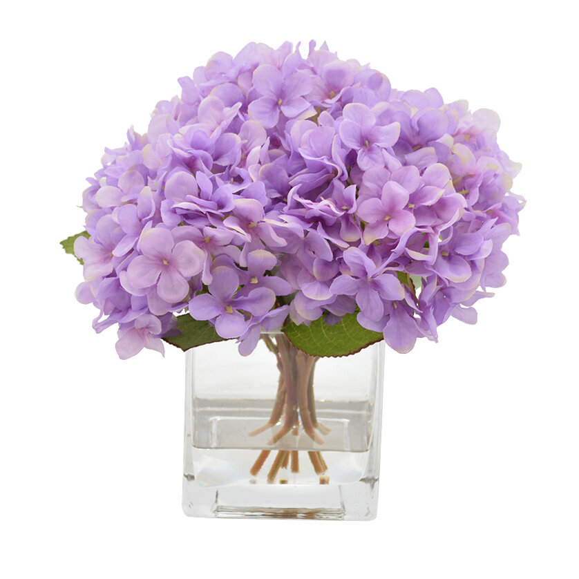 Hydrangea Flower Arrangement in Decorative Vase