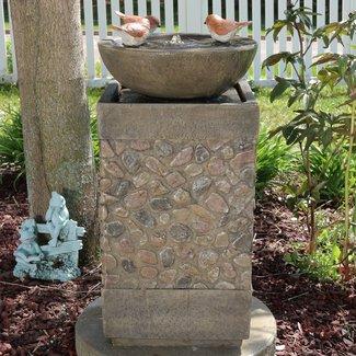 Solar Bird Bath Fountain - Visual Hunt