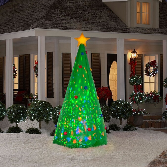 inflatable christmas trees