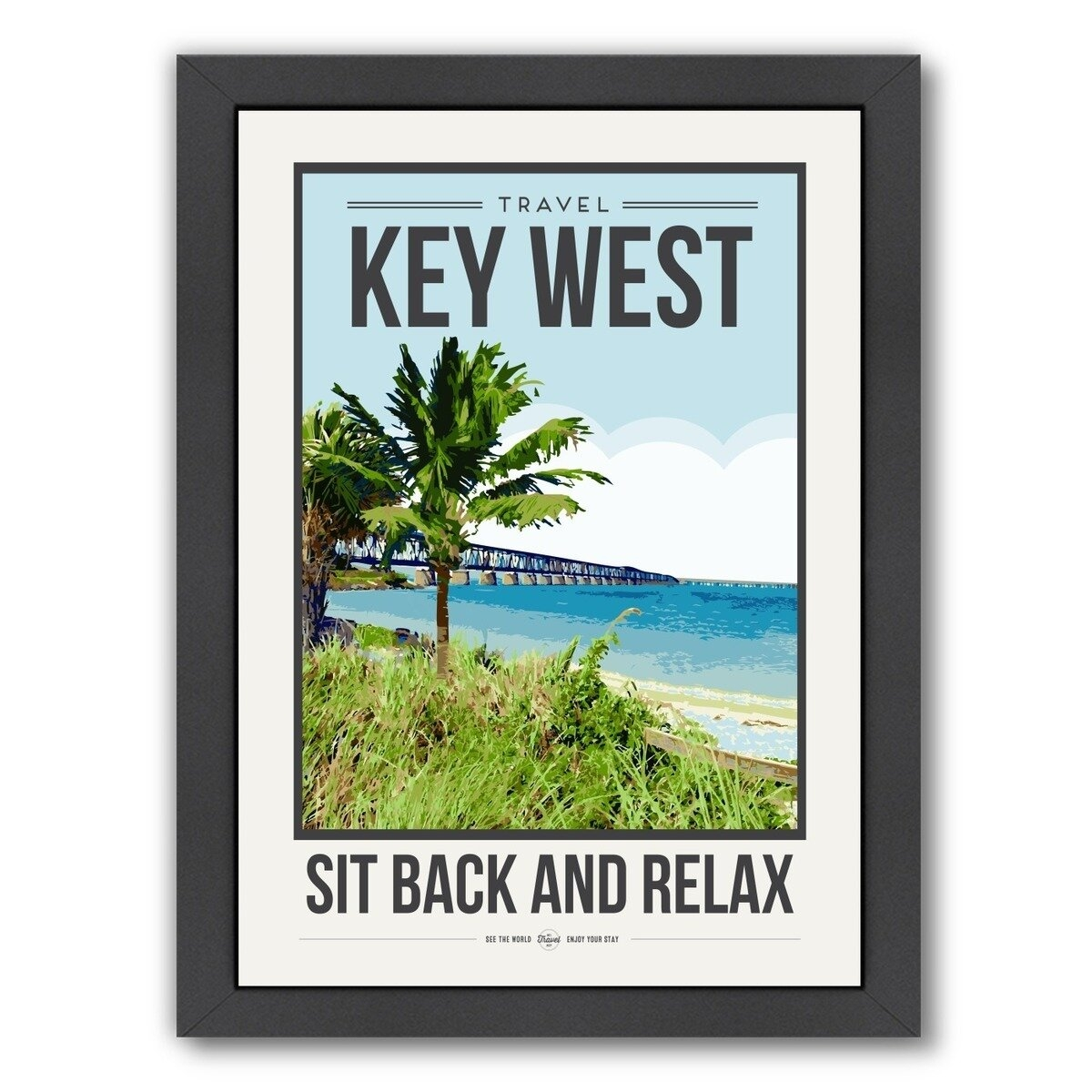 Key West Framed Graphic Art