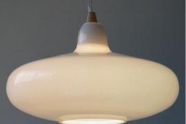 Milk Glass Pendant Light