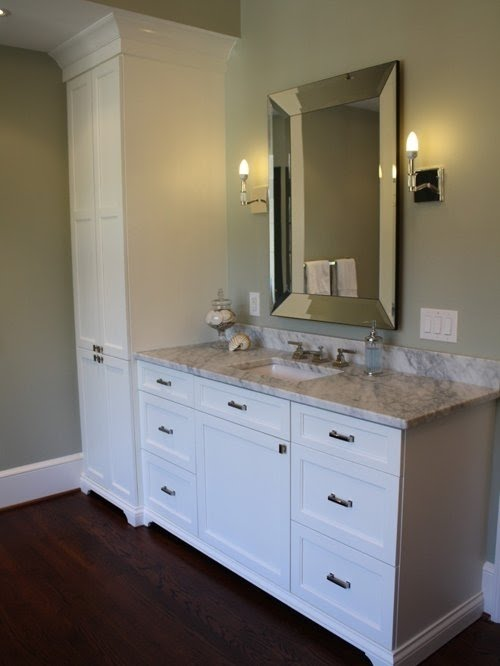 Bathroom Vanity And Linen Cabinet Combo, Bathroom Vanity And Linen Cabinet