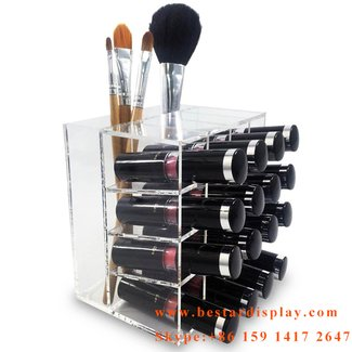 Lipstick Rack Storage Display Makeup Cosmetic Organizer