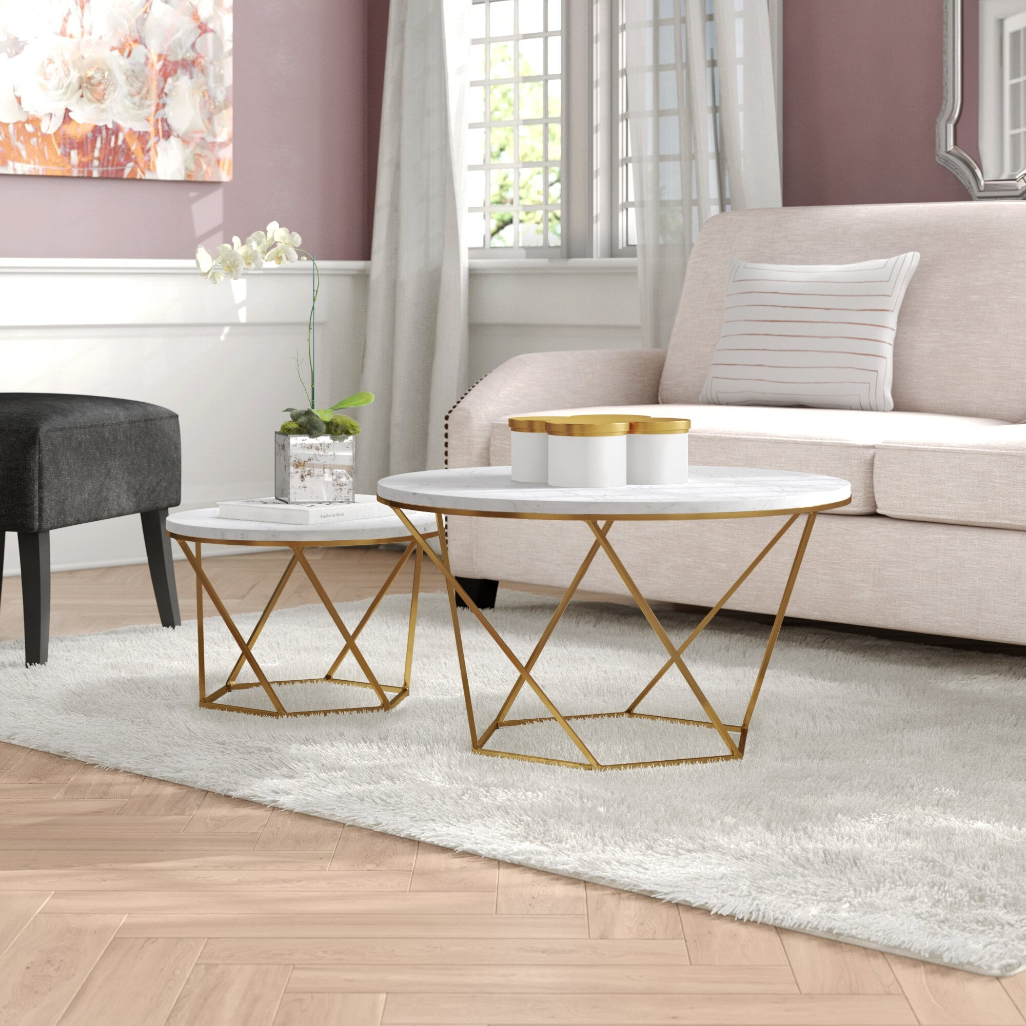 Faux White Marble Coffee Table You Ll Love In 2021 Visualhunt