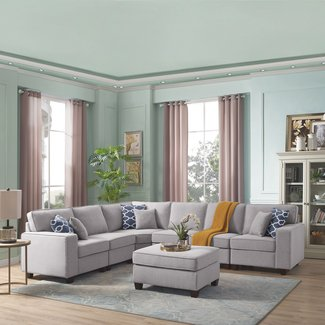 Superb 50 Gray Sectional With Ottoman Youll Love In 2020 Visual Alphanode Cool Chair Designs And Ideas Alphanodeonline