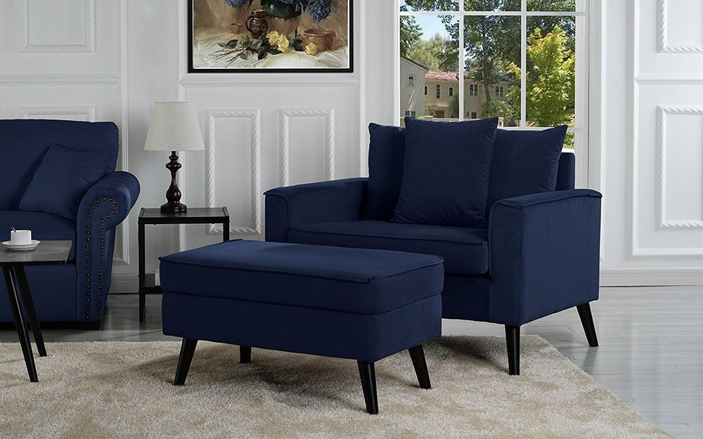 Navy Blue Accent Chair You Ll Love In, Blue Accent Chairs For Living Room