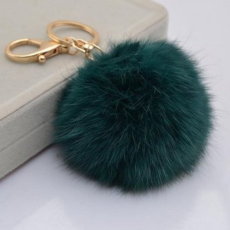 32870994a82c Miraclekoo Rabbit Fur KeyChain Gold Plated Keychain with Plush for Car Key  Ring or Handbag Bag