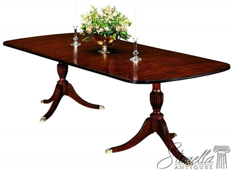Model #2208 Duncan Phyfe Mahogany Dining Room Table