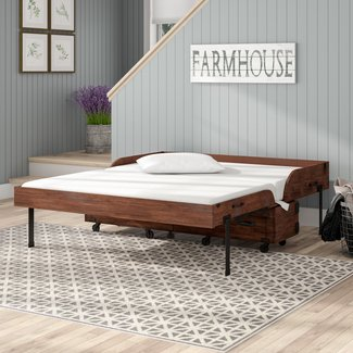 Oradell Queen Storage Murphy Bed with Mattress
