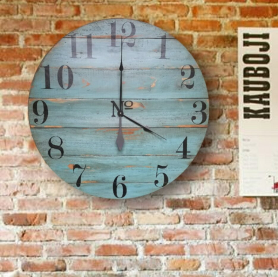 Oversized Quinlynn Farmhouse Wall Clock