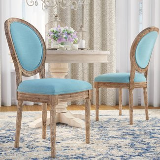 Patel Round Back Upholstered Dining Chair (Set of 2)