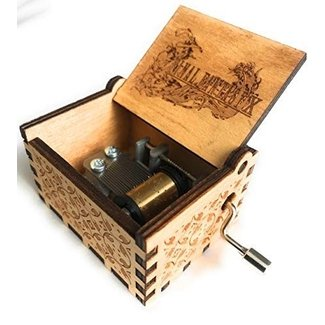 Phoenix Appeal Beautiful Hand Cranked Carved Wooden Music Box: Various Themes Available Stocking Stuffers