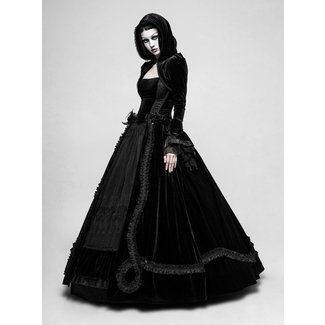 7f7f0eec5b Q-339 Lady Amaranth - long Gothic wedding dress by .
