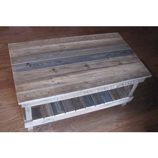 Reclaimed Plank Top Coffee Table. shipping included
