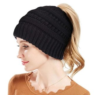88014124827 Rosoz Winter Ponytail Beanie for Women