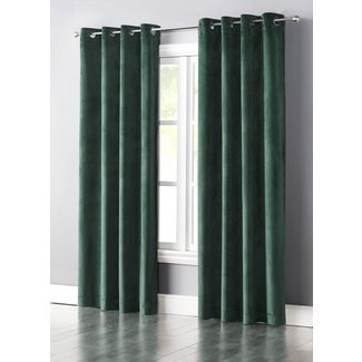 Slattery Solid Light Filtering Grommet Single Curtain Panel